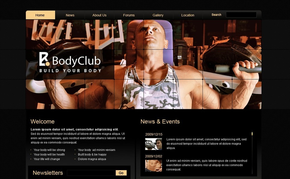 PSD Template over Bodybuilding  New Screenshots BIG