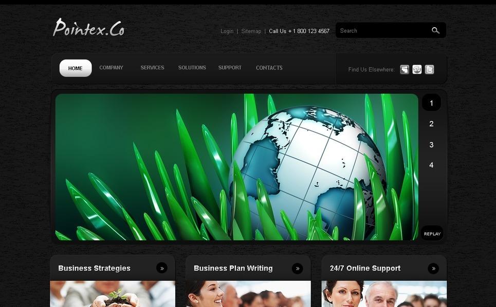 Plantilla PSD #54094 para Sitio de Negocio y Servicios New Screenshots BIG