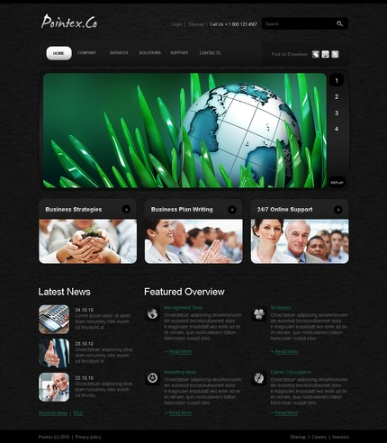 ADOBE Photoshop Template 54094 Home Page Screenshot