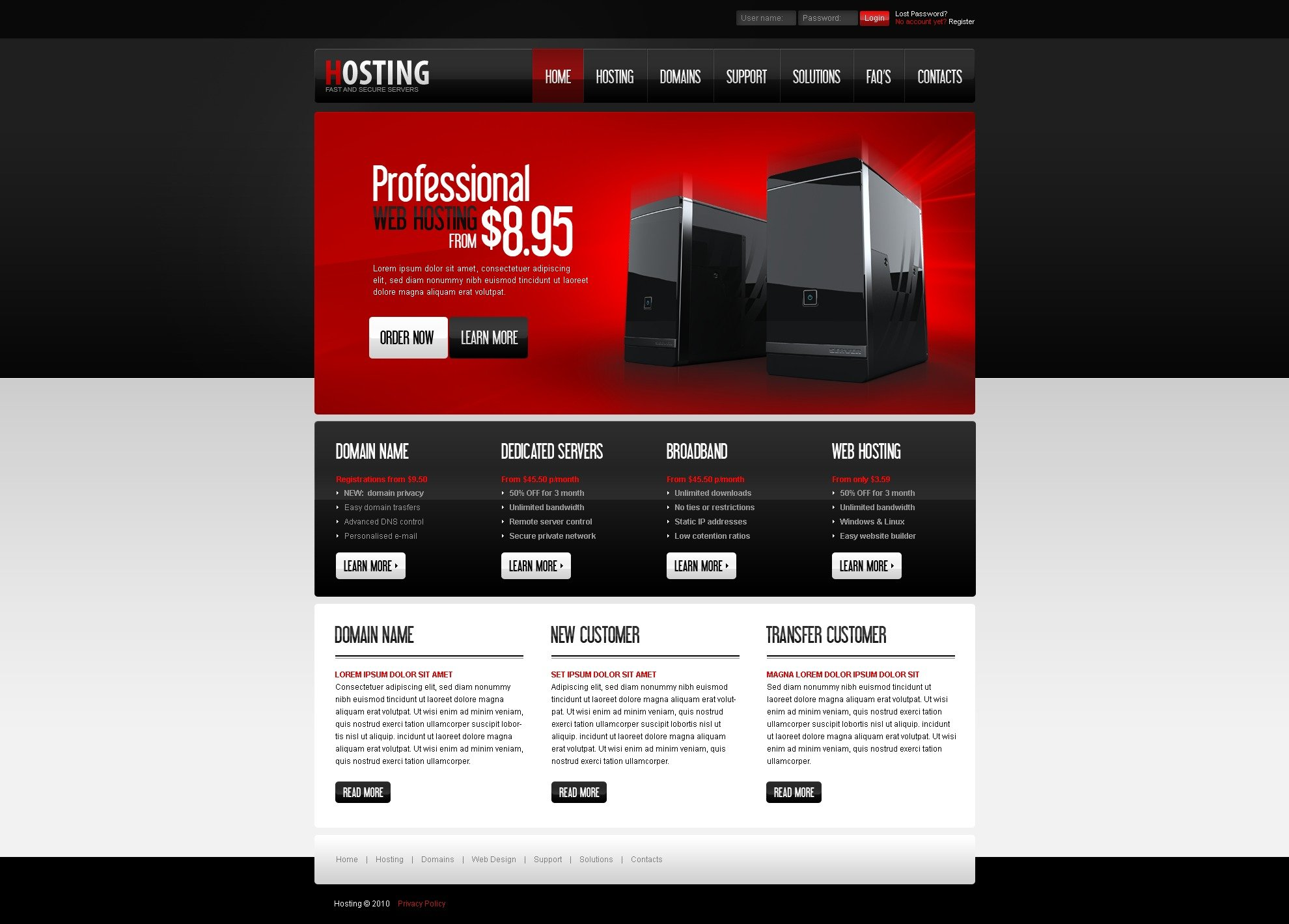 The Hosting Company Solution PSD Design 54096, one of the best PSD templates of its kind (hosting, most popular, wide), also known as hosting company solution PSD template, domain PSD template, services PSD template, beginner PSD template, plan PSD template, standard PSD template, advanced PSD template, dedicated PSD template, workteam PSD template, tools PSD template, special offer PSD template, server PSD template, monitoring PSD template, management PSD template, account PSD template, activation PSD template, client PSD template, technology solution PSD template, data center provider PSD template, traffic PSD template, internet PSD template, web IT processor PSD template, space and related with hosting company solution, domain, services, beginner, plan, standard, advanced, dedicated, workteam, tools, special offer, server, monitoring, management, account, activation, client, technology solution, data center provider, traffic, internet, web IT processor, space, etc.