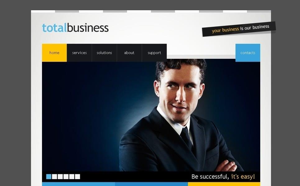 PSD шаблон №54097 на тему бизнес и услуги New Screenshots BIG