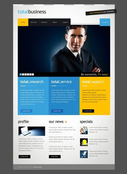 ADOBE Photoshop Template 54097 Home Page Screenshot