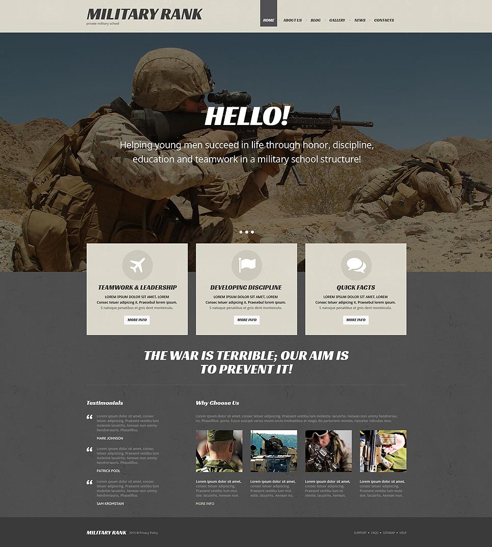 Адаптивный шаблон сайта на тему военная школа #54035