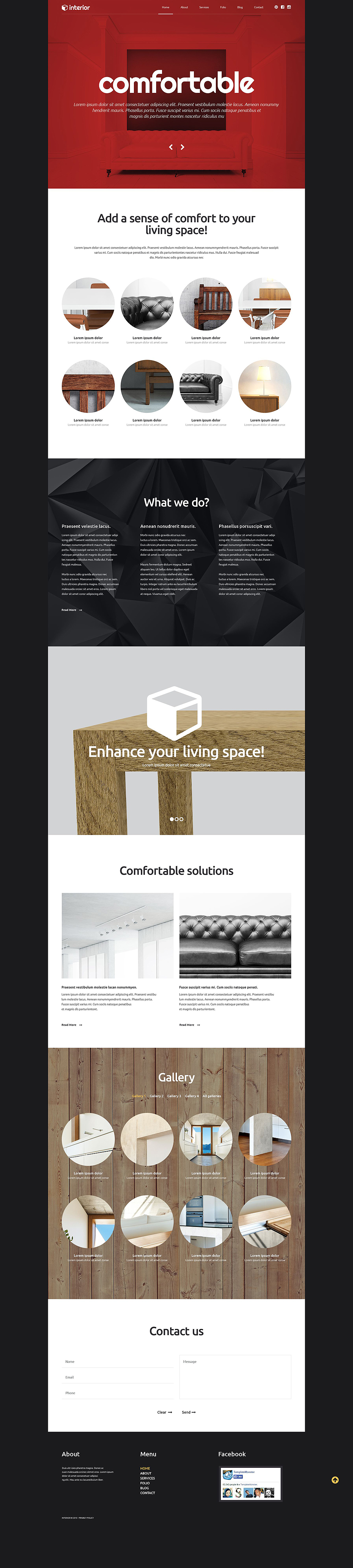 Адаптивный шаблон сайта на тему дизайн и интерьер #54038