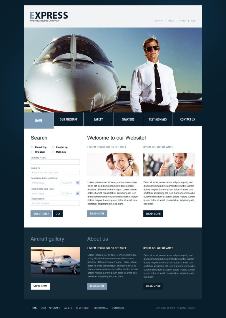 Airline Tickets PSD Template New Screenshots BIG