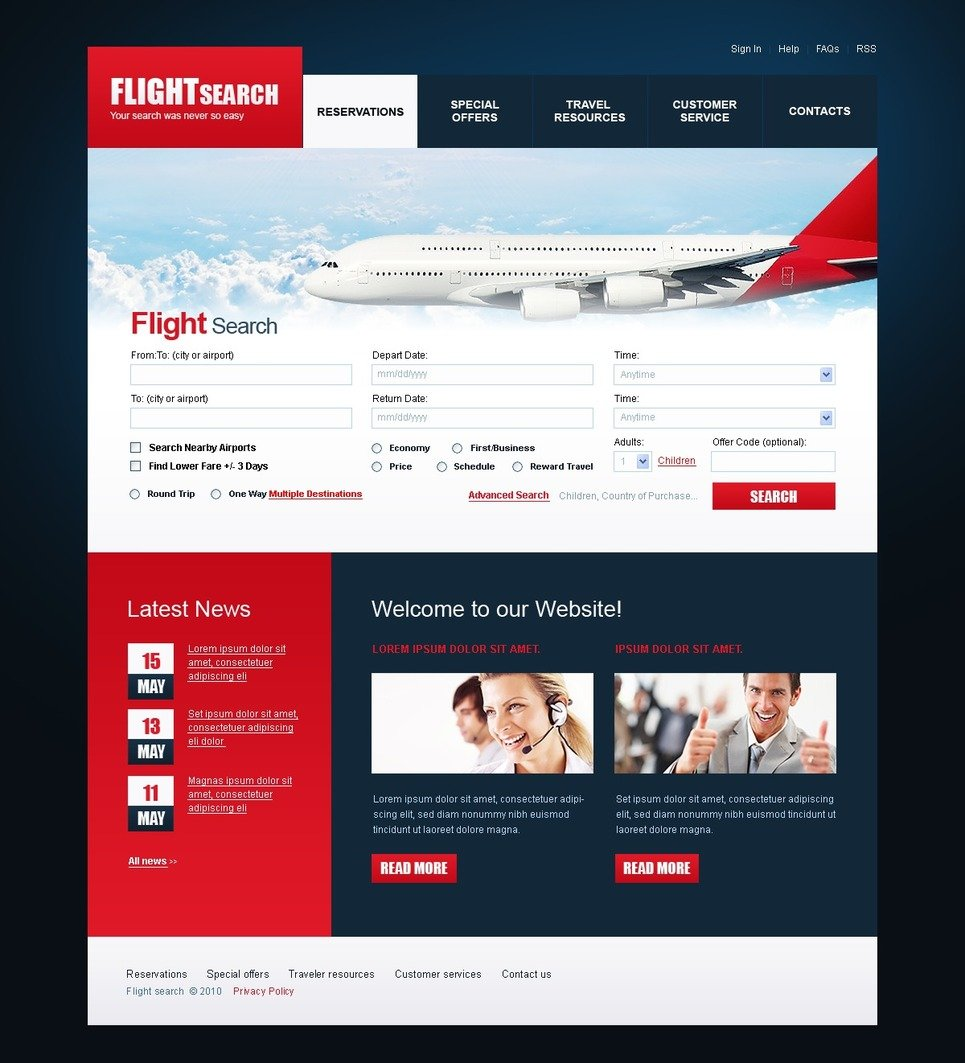 Airline Tickets PSD Template - Ticket design template photoshop