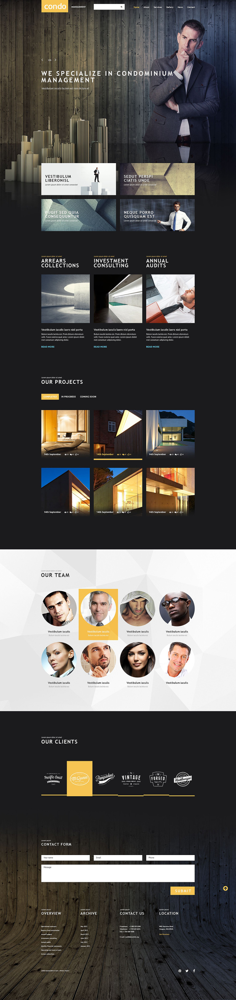 Asset Management Website Template New Screenshots BIG