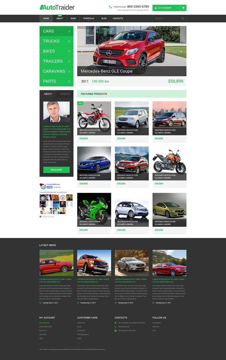AutoTraider WooCommerce Theme New Screenshots BIG