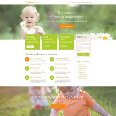 Flexível tema WordPress №54037 para Sites de Babá