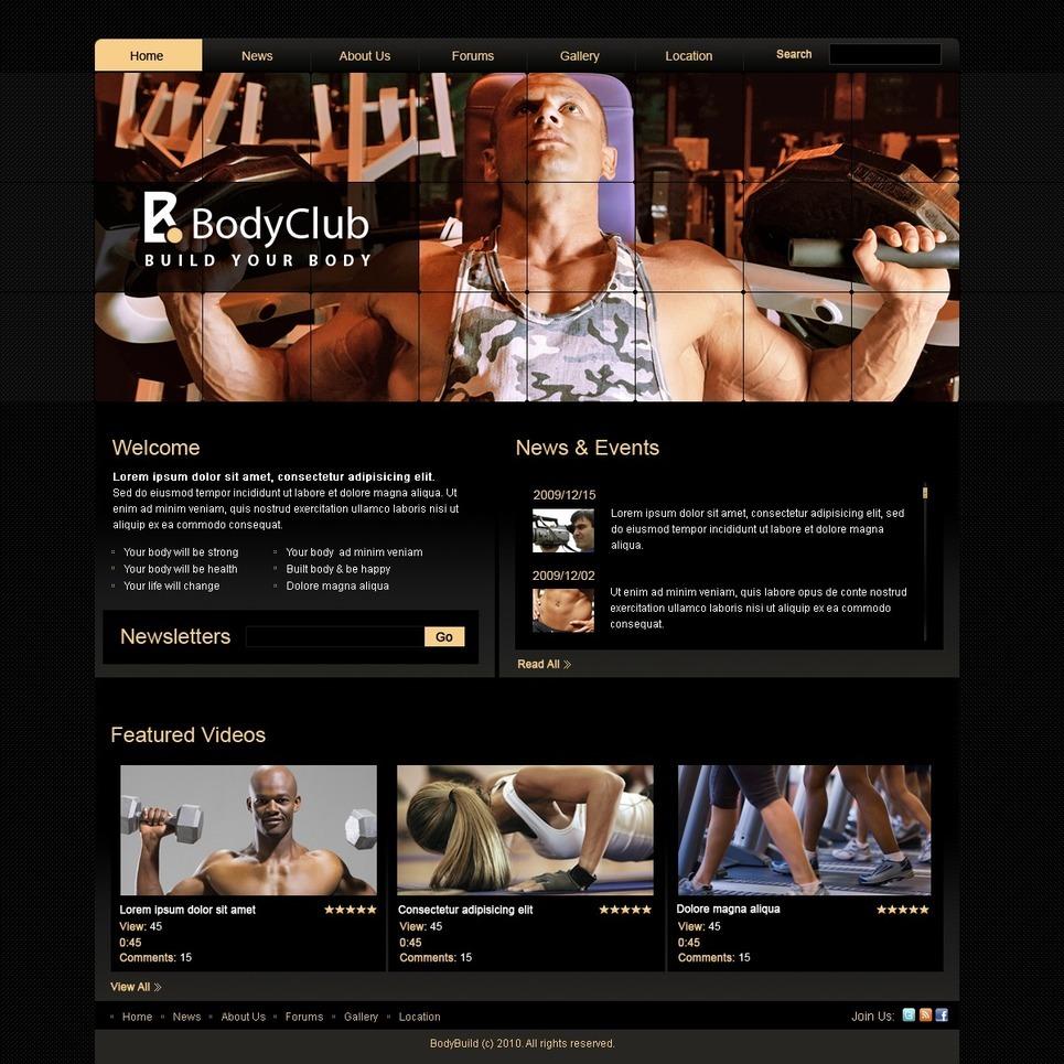 Bodybuilding PSD Template New Screenshots BIG