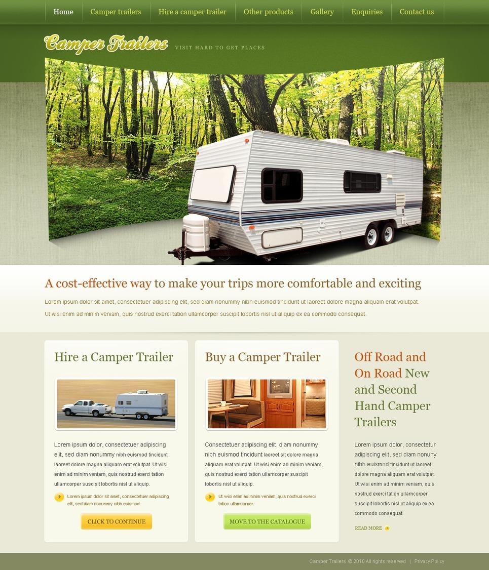 Camping PSD Template New Screenshots BIG