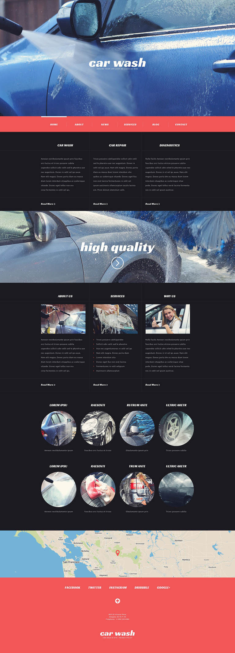 Car Wash Responsive WordPress Theme New Screenshots BIG
