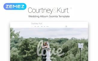 Courtney & Kurt - Wedding AlbumCreative Joomla Template
