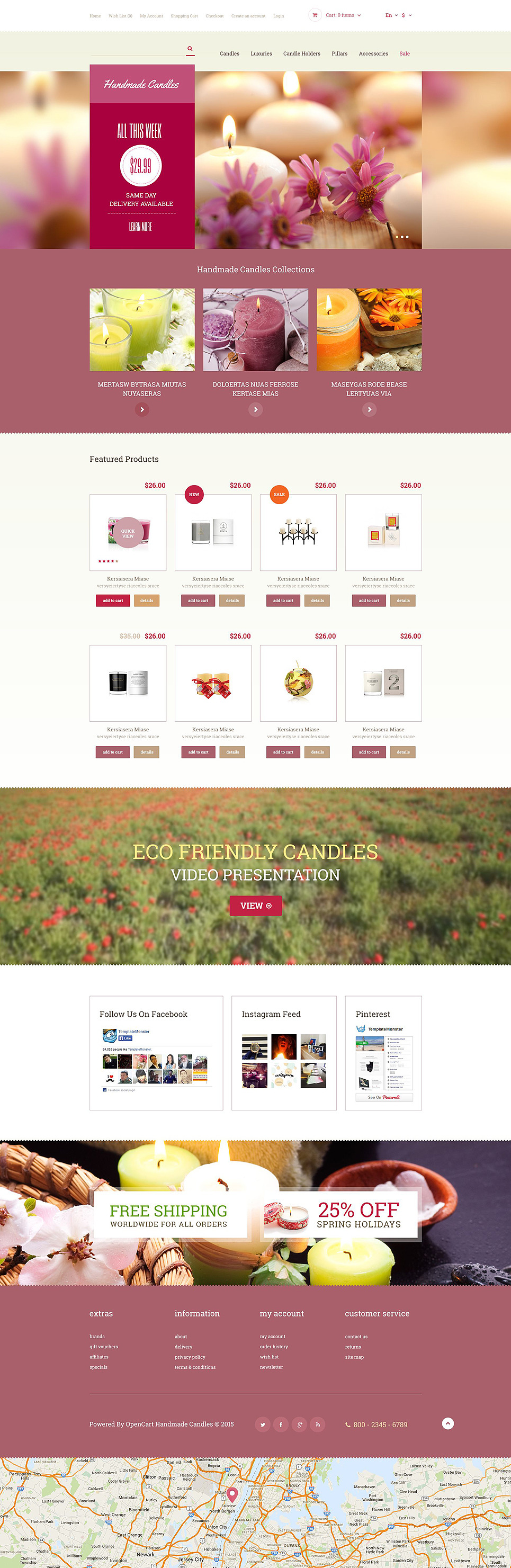 Decorative Candles OpenCart Template New Screenshots BIG