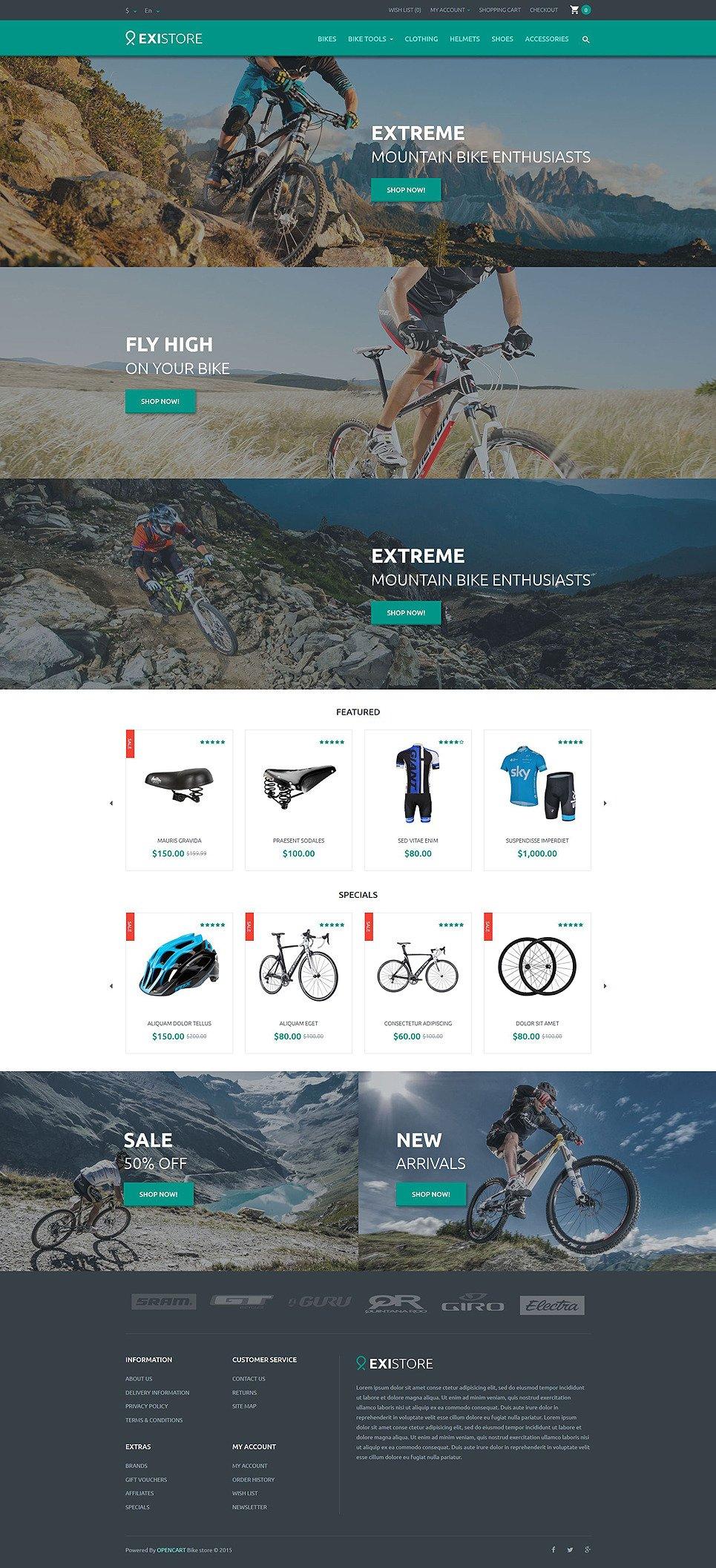 Existore OpenCart Template New Screenshots BIG