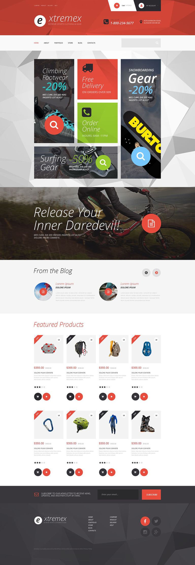 Extremex WooCommerce Theme New Screenshots BIG