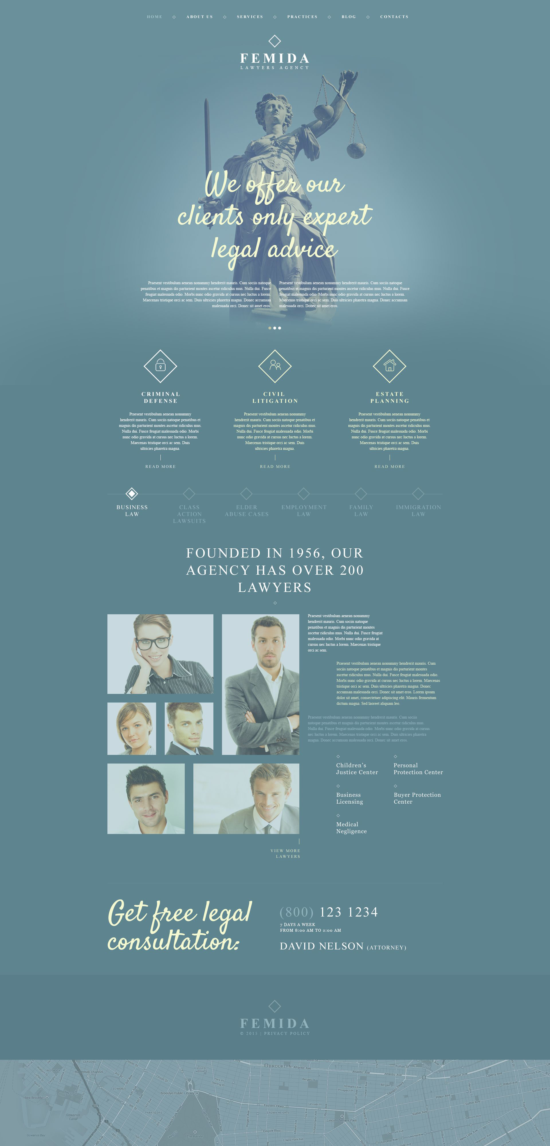 Femida WordPress Theme