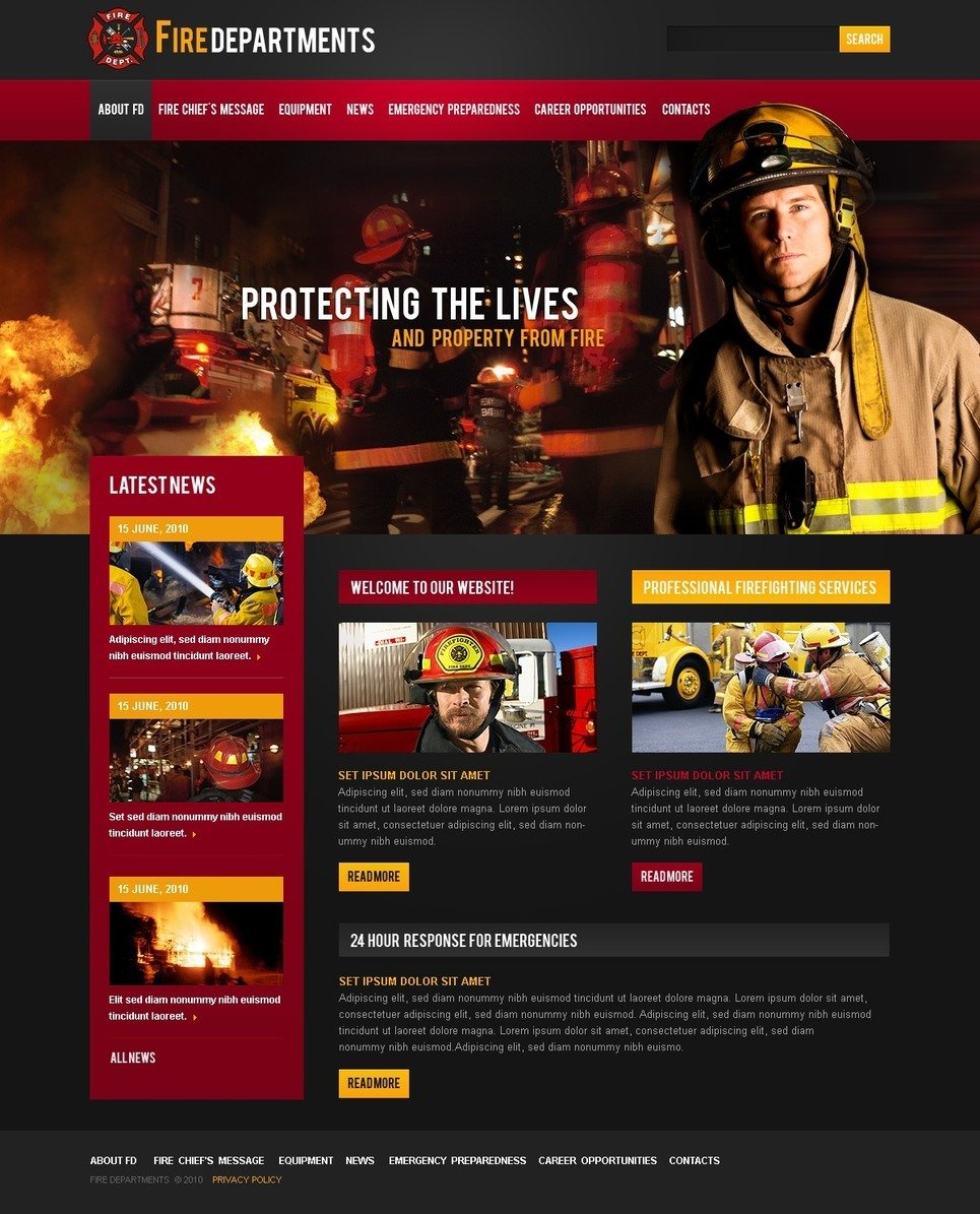 Fire Department PSD Template New Screenshots BIG