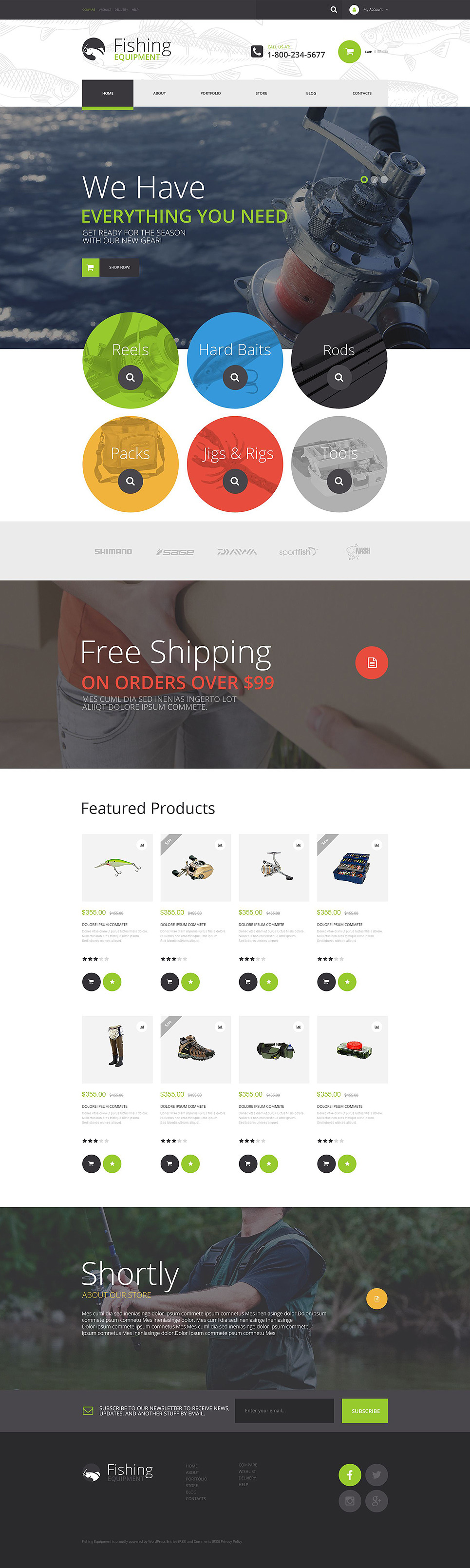 Fishing Kit WooCommerce Theme New Screenshots BIG