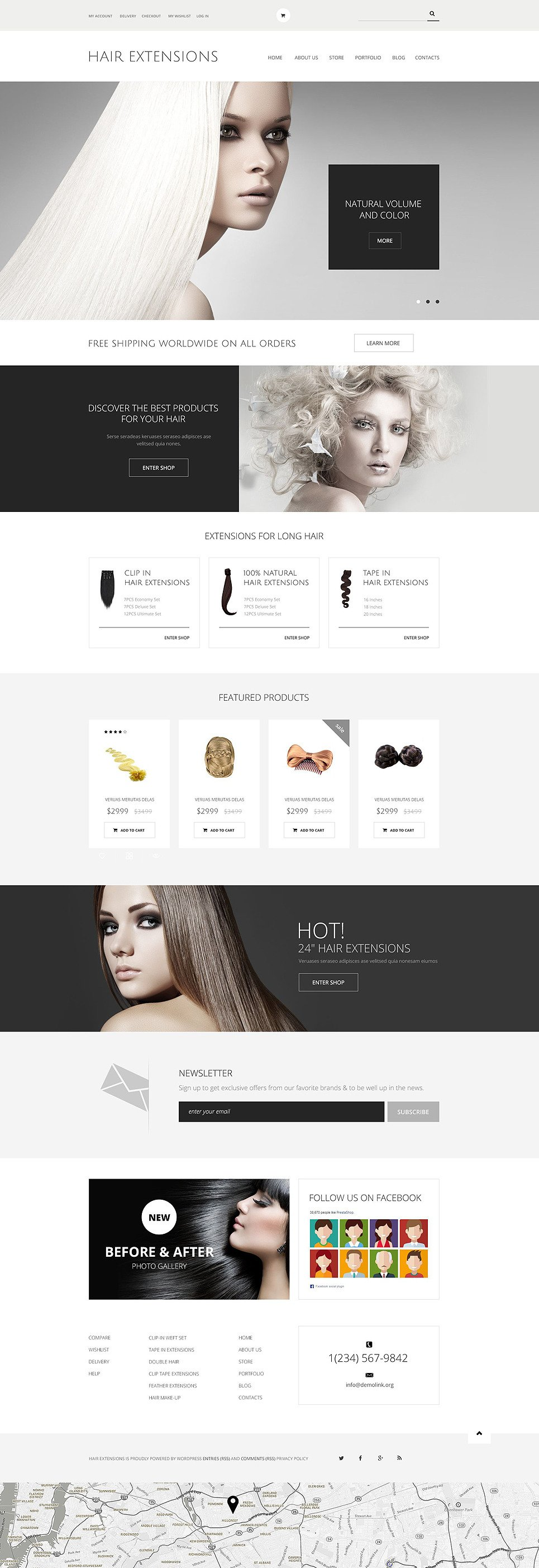Hair Extensions Salon WooCommerce Theme New Screenshots BIG