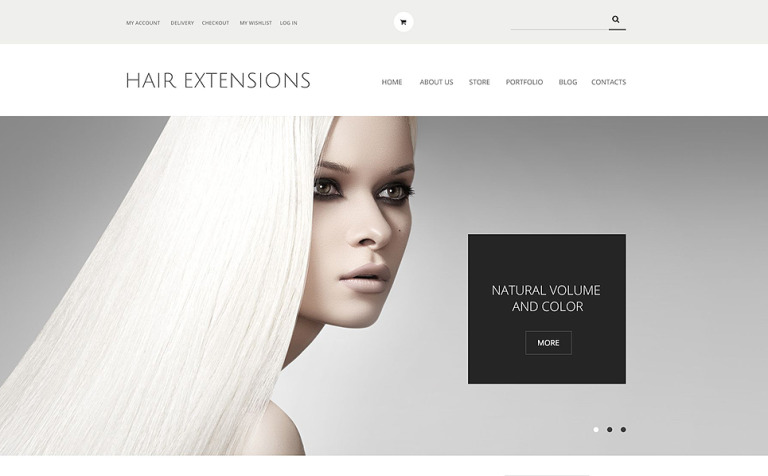 Hair Extensions Salon Woocommerce Theme