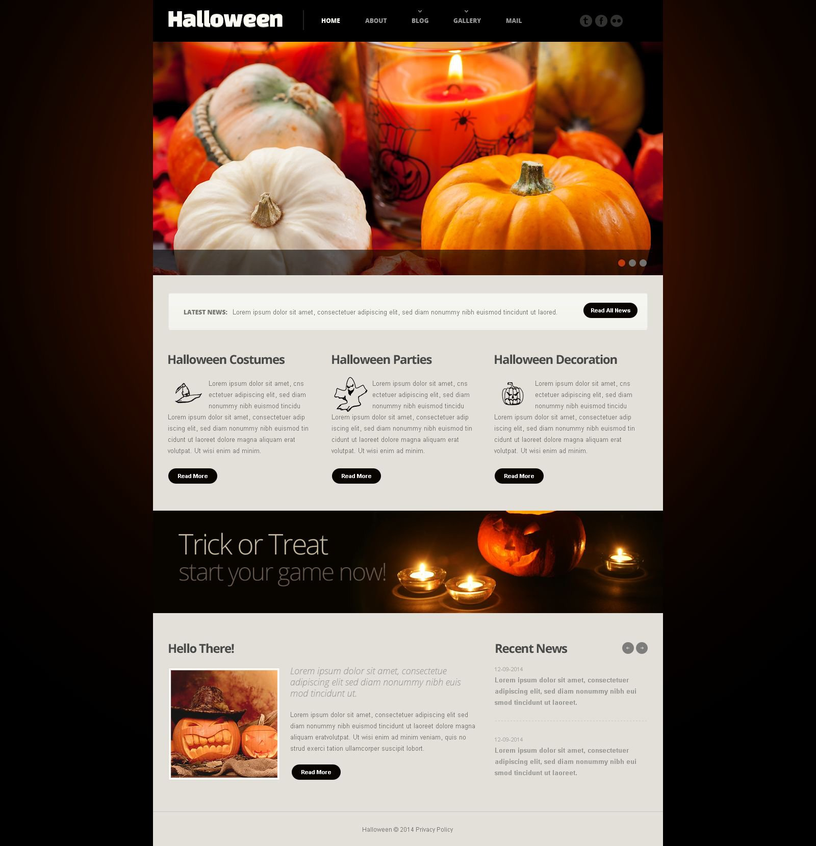 halloween responsive website template 54013
