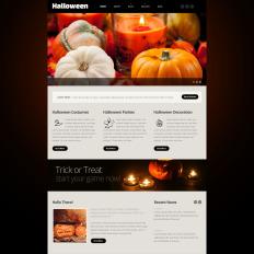 Halloween website templates template monster halloween responsive website theme 54013 maxwellsz
