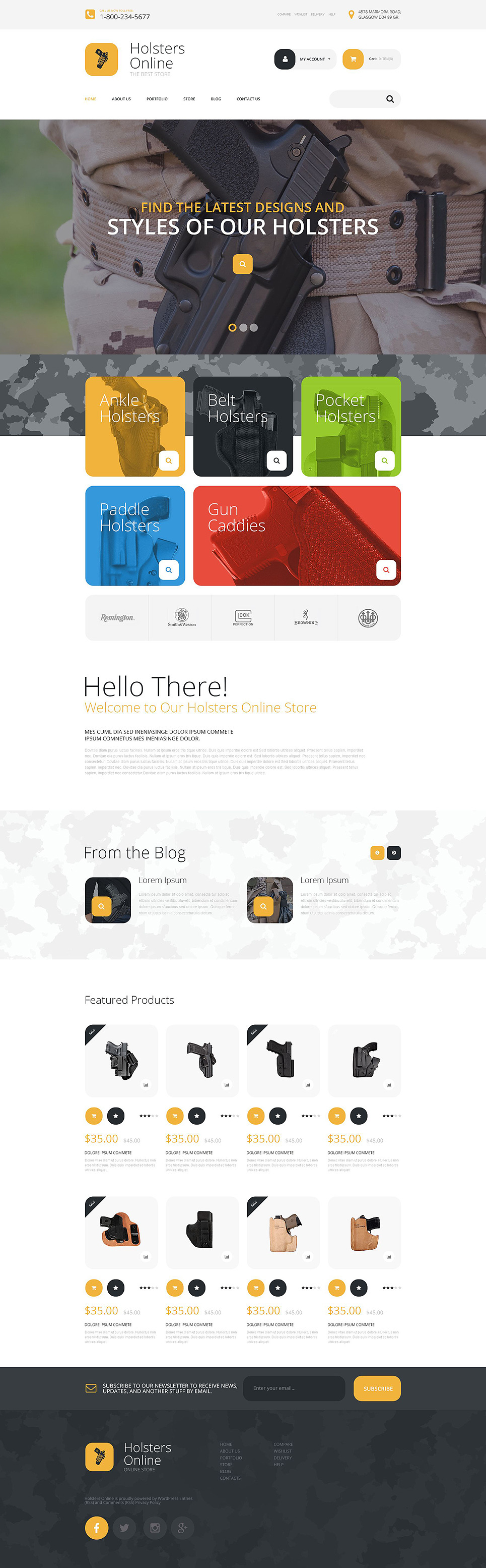 Holsters Online Store WooCommerce Theme New Screenshots BIG