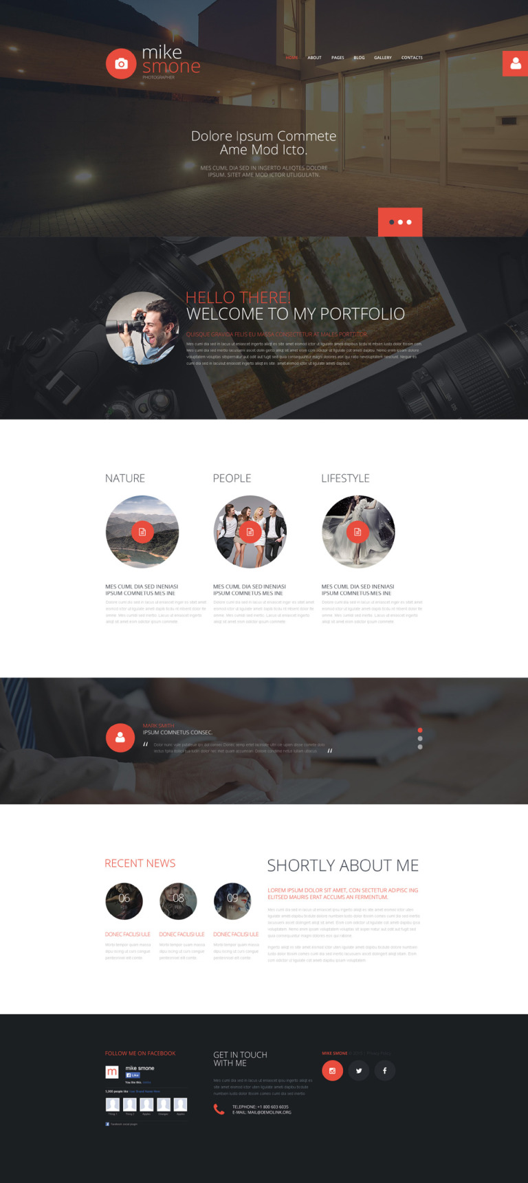 Mike Smone Joomla Template New Screenshots BIG