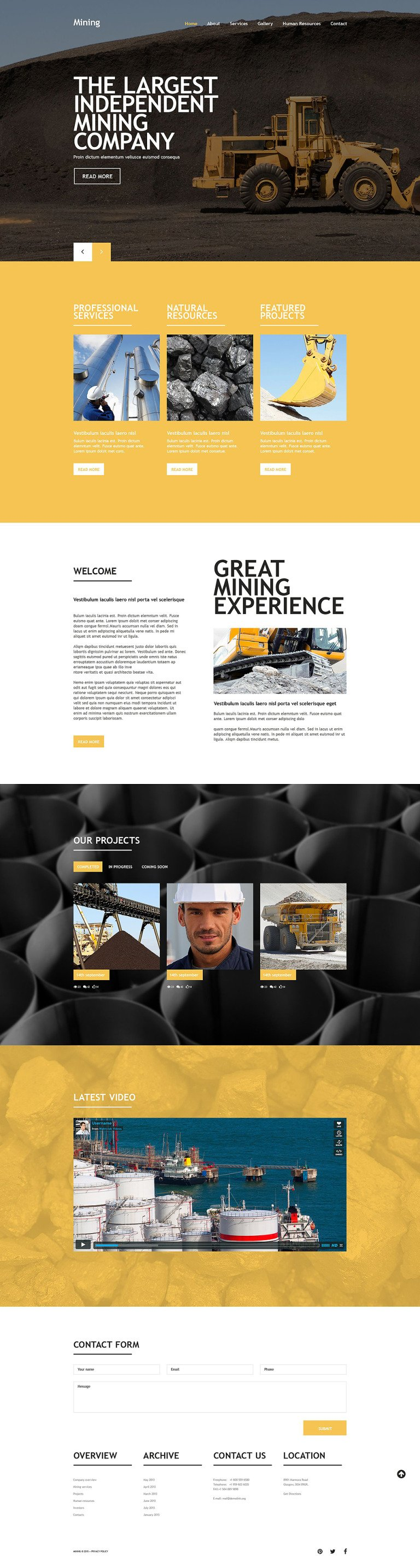 Mining Company Website Template New Screenshots BIG