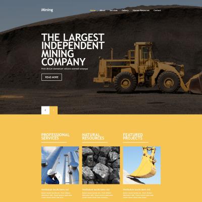 18+ Best Mining Company Website Templates   TemplateMonster