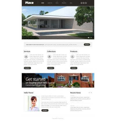Modèle Web adaptatif  pour site d'agence immobilière