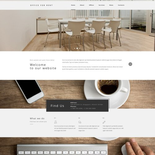 Office for Rent - Responsive Website Template