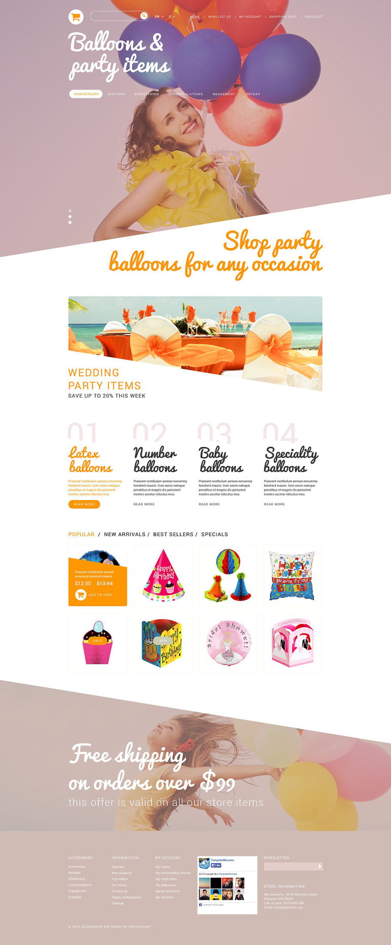 Party Stuff PrestaShop Theme New Screenshots BIG