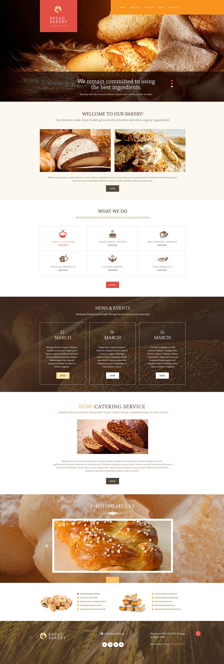 Pastries WordPress Theme New Screenshots BIG