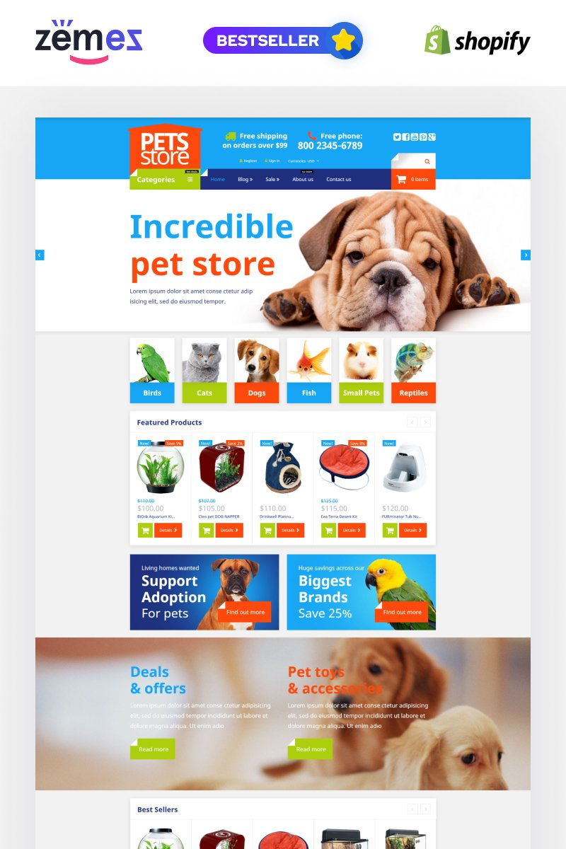 Pet shop responsive shopify theme 54004 pet shop responsive shopify theme pronofoot35fo Images