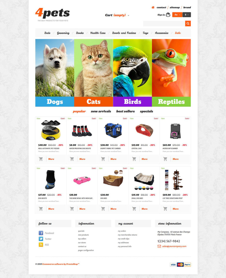 4Pets PrestaShop Theme New Screenshots BIG