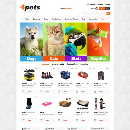 4Pets - PrestaShop Template based on Bootstrap