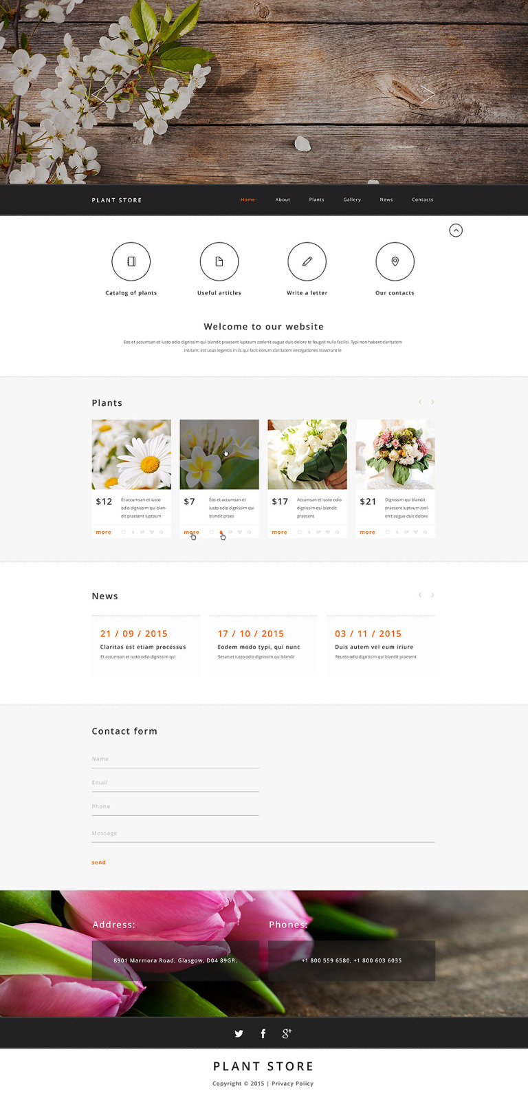 Plant Store Website Template New Screenshots BIG