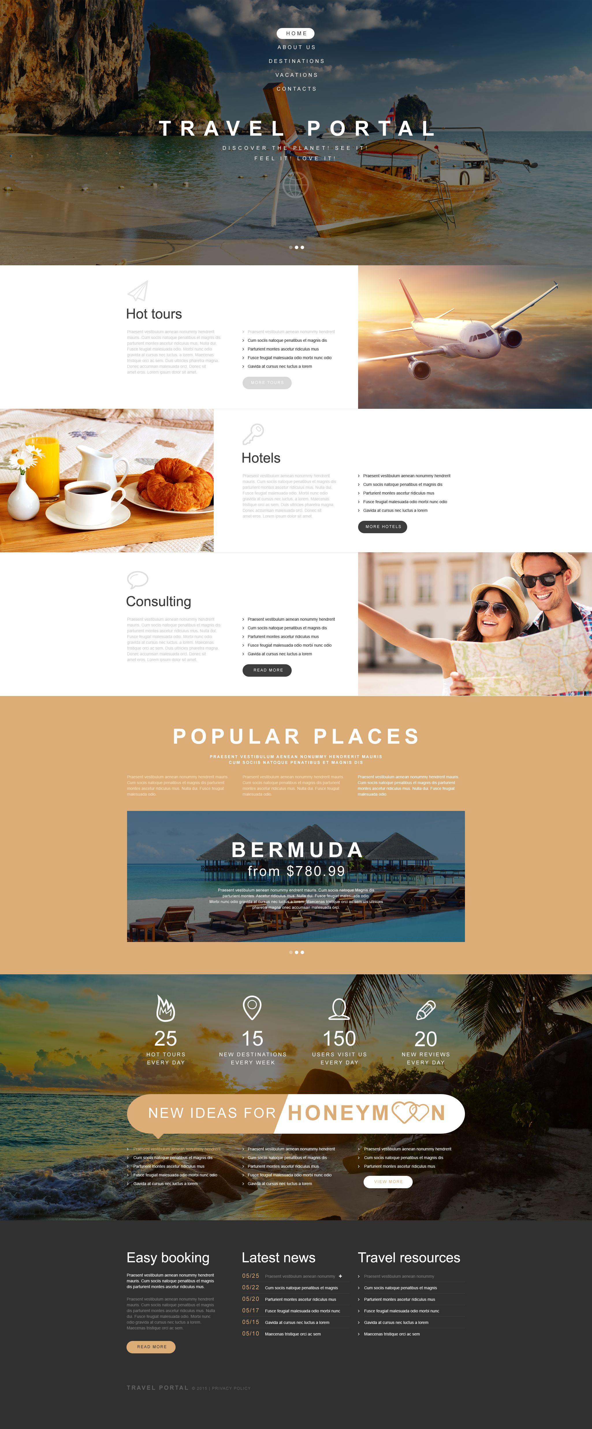Plantilla Muse #54010 para Sitio de Agencias de viajes - captura de pantalla