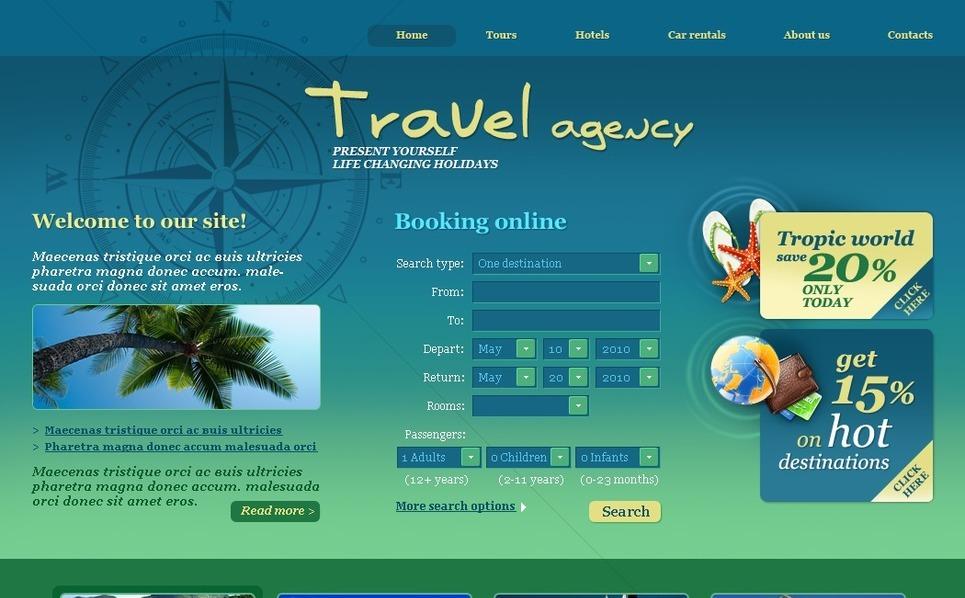 PSD шаблон на тему туристичне агентство New Screenshots BIG