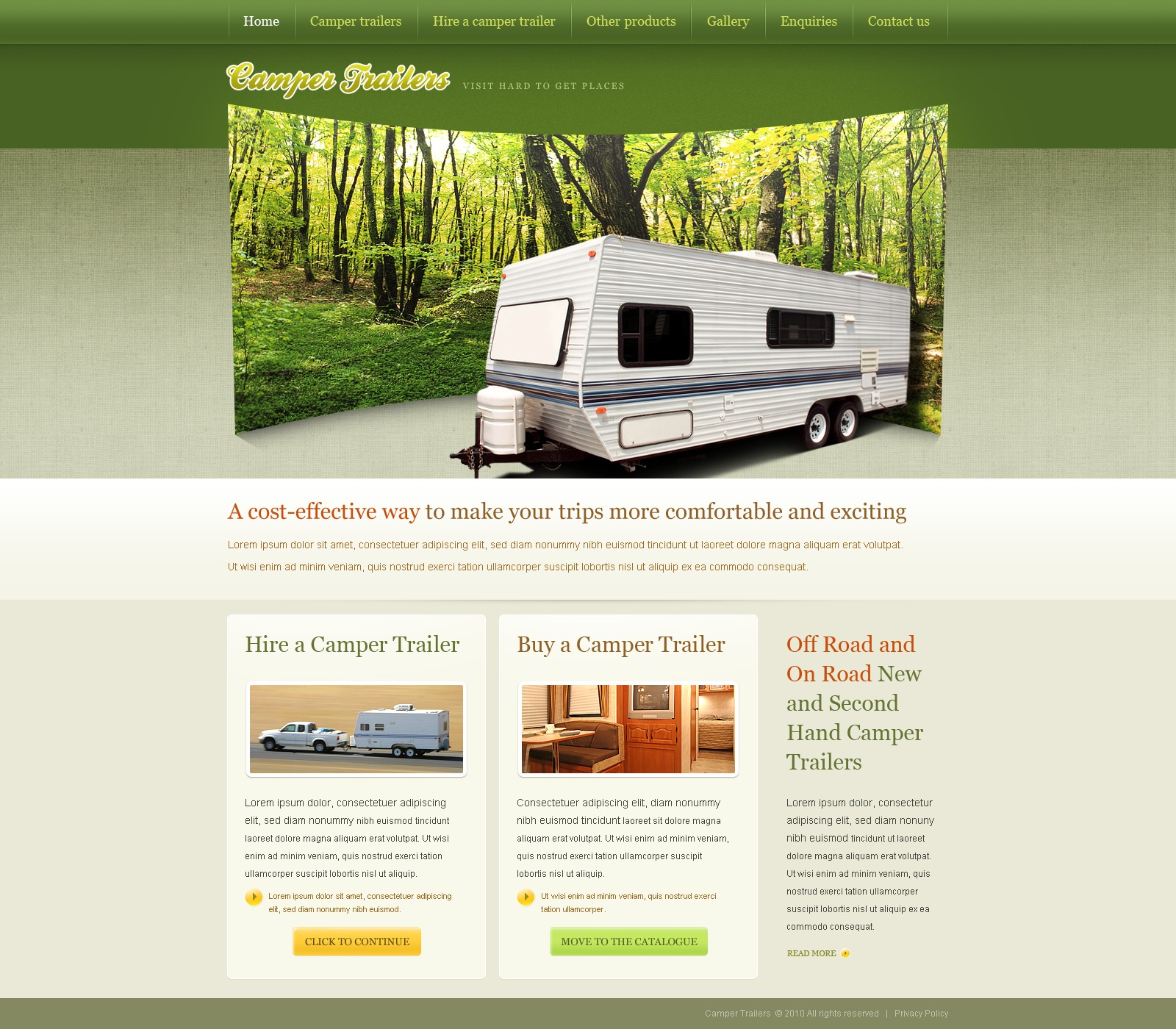 PSD Template over Camping №54083