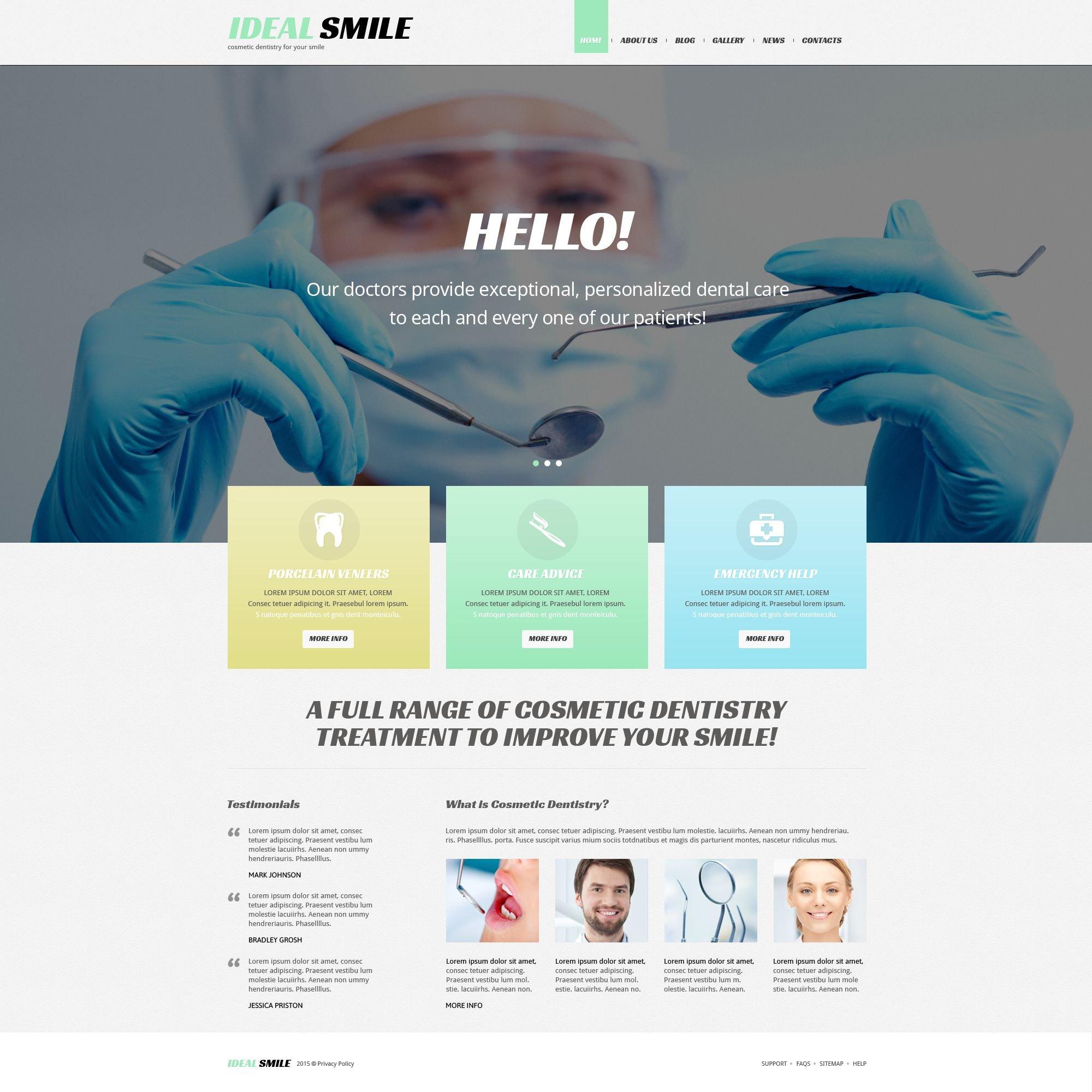 Responsives WordPress Theme für Zahnmedizin #54036 - Screenshot
