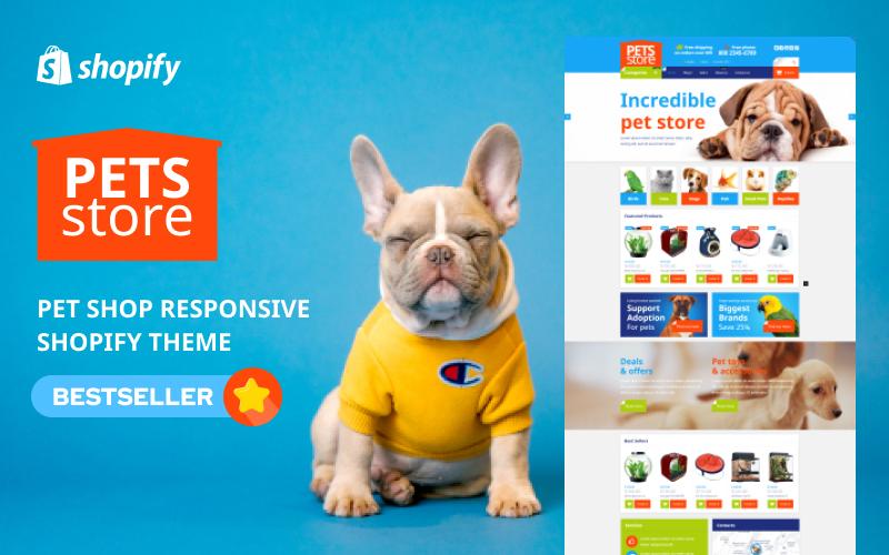 Responsywny szablon Shopify Pet Shop Responsive #54004