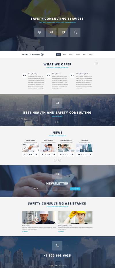 Responsywny szablon strony www #54017 na temat: bezpieczeństwo