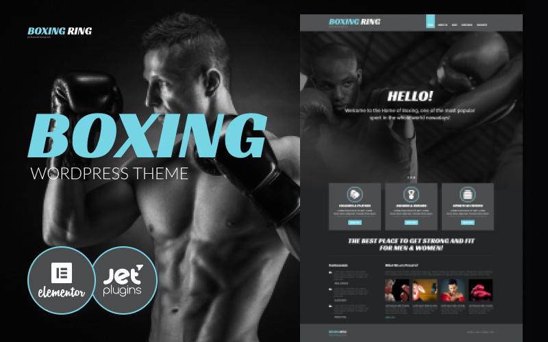 Reszponzív Boxing Responsive WordPress sablon 54034