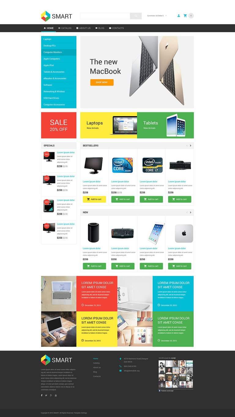 Smart Electronics Store VirtueMart Template New Screenshots BIG