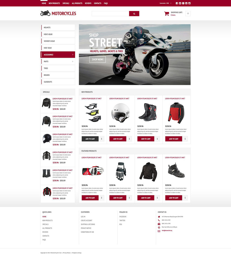 Stylish Online Shop ZenCart Template New Screenshots BIG