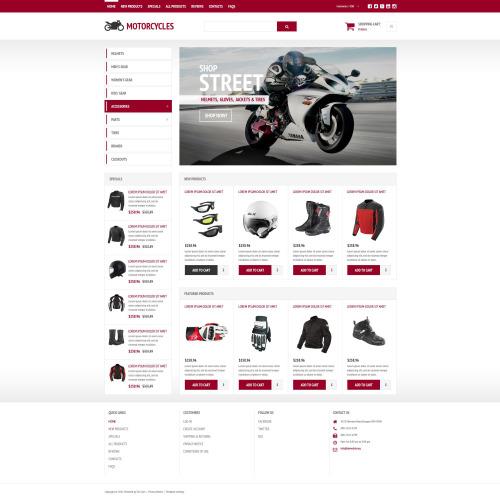 Motorcycles - Responsive ZenCart Template