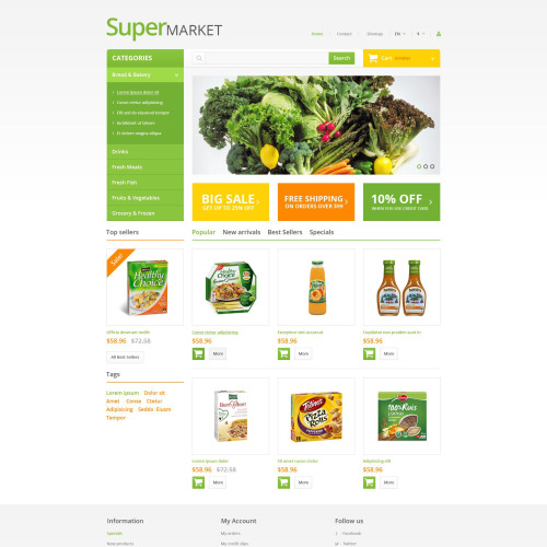 Supermarket - PrestaShop Template based on Bootstrap